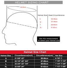 Helmet Size Chart Football