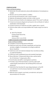 Awesome Sample Resume For Company Nurse Images - Simple resume .