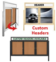 Display Boards Free Standing Free Standing Outdoor Enclosed Bulletin Boards with Lockable Doors 86