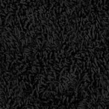... Here's A Thick Shag Black Fluffy Carpet Design: Interesting Black Carpet  Ideas ...