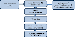 Flow Chart Of The Procedure For Preparing Runoff Water And