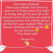 Dear Future Husband I K Quotes Writings By Bhavana Poly