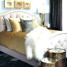 Gold Bed Grey And Gold Bedroom Black White And Gold Room White And ...