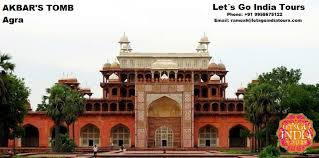 the tomb of akbar can be entered through an elegant southern gateway similar to buland darwaza in fatehpur sikri the gateway leads into a huge garden