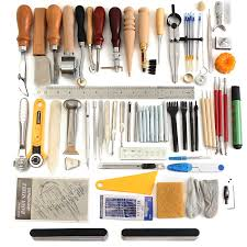 details about 78pcs leather craft tools kit set for hand stitching sewing punch carving work