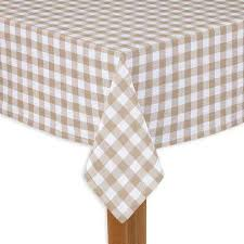 buffalo check 60 in x 120 in sand 100 cotton table cloth for