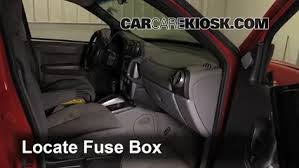 interior fuse box location 2001 2005 pontiac aztek 2001 pontiac locate interior fuse box and remove cover