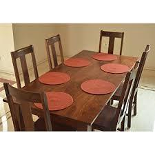 natura irb p 1 15 inch cotton round table mats orange