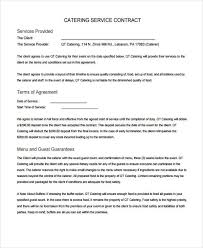 Catering Agreement 13 Catering Contract Templates Apple Pages Google Docs