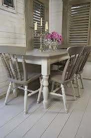 dine in style with our stunning grey and white split dining set painted in annie sloan s gorgeous french linen and old white this set will have the family