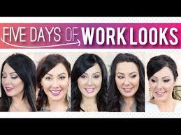 5 days of makeup and hair ideas for work makeup geek