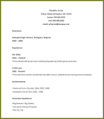 Resume For No Work Experience High School Resume Template High School Graduate No Work Experience