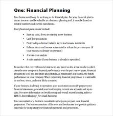 business plan template sample sample financial plan mudeo tk