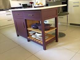 Freestanding Kitchen Fired Earth Freestanding Kitchen Island In Eggplant Moderne Range