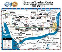 map of branson  branson tourism center