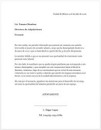 Formato Carta De Renuncia Milformatos Com