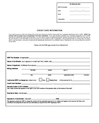 Credit Card On File Form Templates 2019 Credit Card Information Form Fillable Printable Pdf
