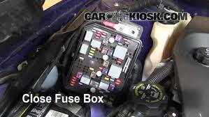 blown fuse check chevrolet impala chevrolet 6 replace cover secure the cover and test component