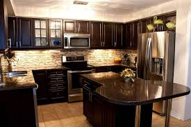 white countertops dark cabinets kitchen floor tile ideas tiles light coloured wood furniture shaker style storage cupboard design images beautiful small