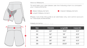 Tapout Clothing Size Chart Hayabusa Flex Fight Shorts Black Mma Shop Singapore