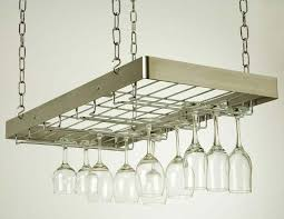 hanging wine glass rack stainless steel chrome