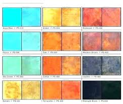 Patina Color Chart Lowes Concrete Color Paint Stain Gel Colors Phamduy Info