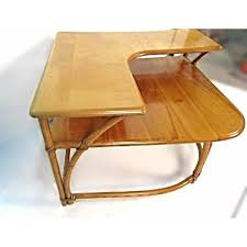 Heywood Wakefield Bamboo Maple Corner Table AptDeco