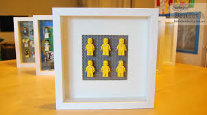 building a lego minifigure display with ikea ribba frames