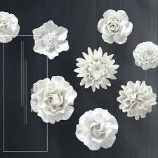 three dimensional wall bedroom creative living room ceramic flower decoration background decor blue