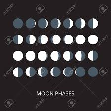 Moon Pattern Cool Moon Phases Icons Astronomy Lunar Phases Whole Cycle From New
