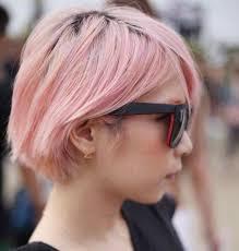 Korean Woman Short Hair Style short pink hairstyle 2013 women asian style celebrity plastic 4943 by wearticles.com
