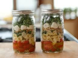 Kale-Pasta Mason Jar Salad