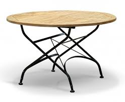 teak folding bistro round 1 2m table 4 side chairs