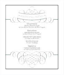Wedding Menu Template Free Download Fourandtwenty Co