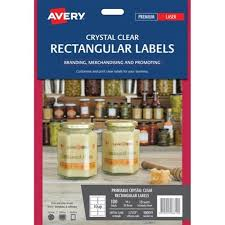 Avery 10 Per Page Labels Avery Rectangular Laser Labels L7113 Clear 10 Per Sheet Officemax Nz