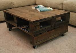 Diy Coffee Table With Wheels Vintage Pallet Coffee Table with Casters |  Pallet .