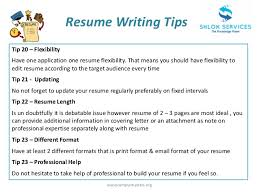 Tips For Writing Resume Resume Job