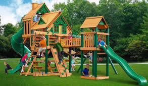 kids tree house for sale. Gorilla Swingset With Slides For Sale, Large Kids Wooden Slides. Cedar Treasure Trove Treehouse Tree House Sale S