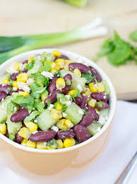 high protein kidney bean salad greek and american cuisine in one bowl salad