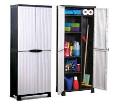 171cm tall large weatherproof plastic garden storage unit shed cupboard