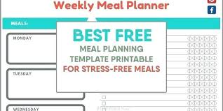 Weight Loss Menu Planner Template Diet Planner Template Food Planners Daily Plan Example Meal