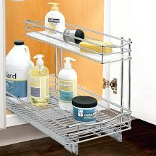 under sink cabinet roll out under sink cabinet organizer pull out two tier sliding shelf in