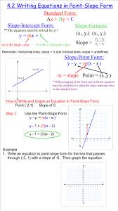 4 2 writing equations in point slope form