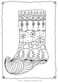Small Picture Christmas Coloring Page Stocking Milliandes Free Christmas