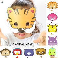 Safari Animals Template 10 Printable Safari Animal Masks For Kids Arty Crafty Kids
