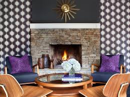 Wallpaper Designs For Living Room How To Install Fabric Wallcovering Hgtv