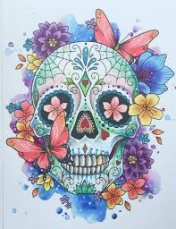 Coloring Sugar Skullrint Day Of The Art Tattoo Mexican Coloring