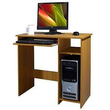 wooden office table. WOODEN COMPUTER DESK BASIC HOME OFFICE TABLE WORKSTATION BEECH WOOD PC LAPTOP Wooden Office Table N
