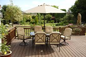 garden dining set. quality beige padded 6 seater 9 piece metal garden dining set -table chairs cushions d