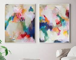 set of 2 extra large prints acrylic abstract painting giclee of original wall art abstract wall art large abstract art victoriatelier on large abstract wall art cheap with large abstract art etsy